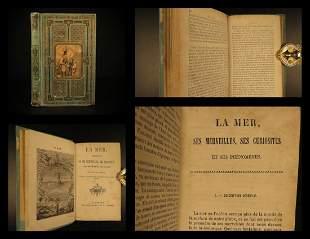 1882 BEAUTIFUL BINDING History of the SEA Sailing