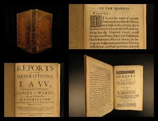 1659 1ed LAW James Ley Reports of Court of Wards