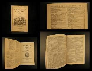 1864 Old Franklin Almanac CIVL WAR Confederate & Union