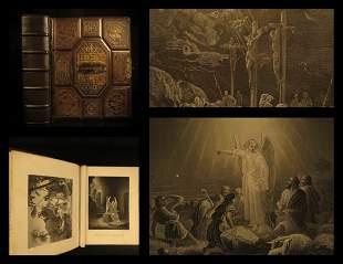 1876 BEAUTIFUL Holy BIBLE Illustrated Apocrypha