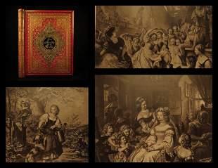 1880 EXQUISITE Friedrich Schiller Lied von der Glocke
