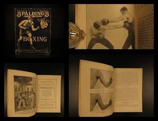 1902 1st ed Spalding BOXING Sports Guide Jab Block