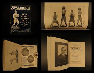 1922 1st ed Spalding Basketball Sports Guide Shooting