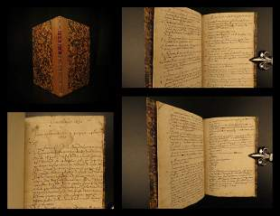 1632 BEAUTIFUL Handwritten Manuscript Genealogy