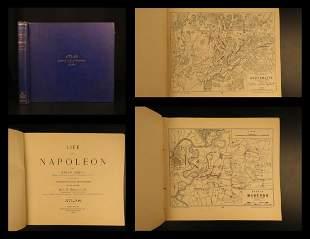 1897 1ed ATLAS of Napoleonic Wars 60 Battle MAPS Jomini