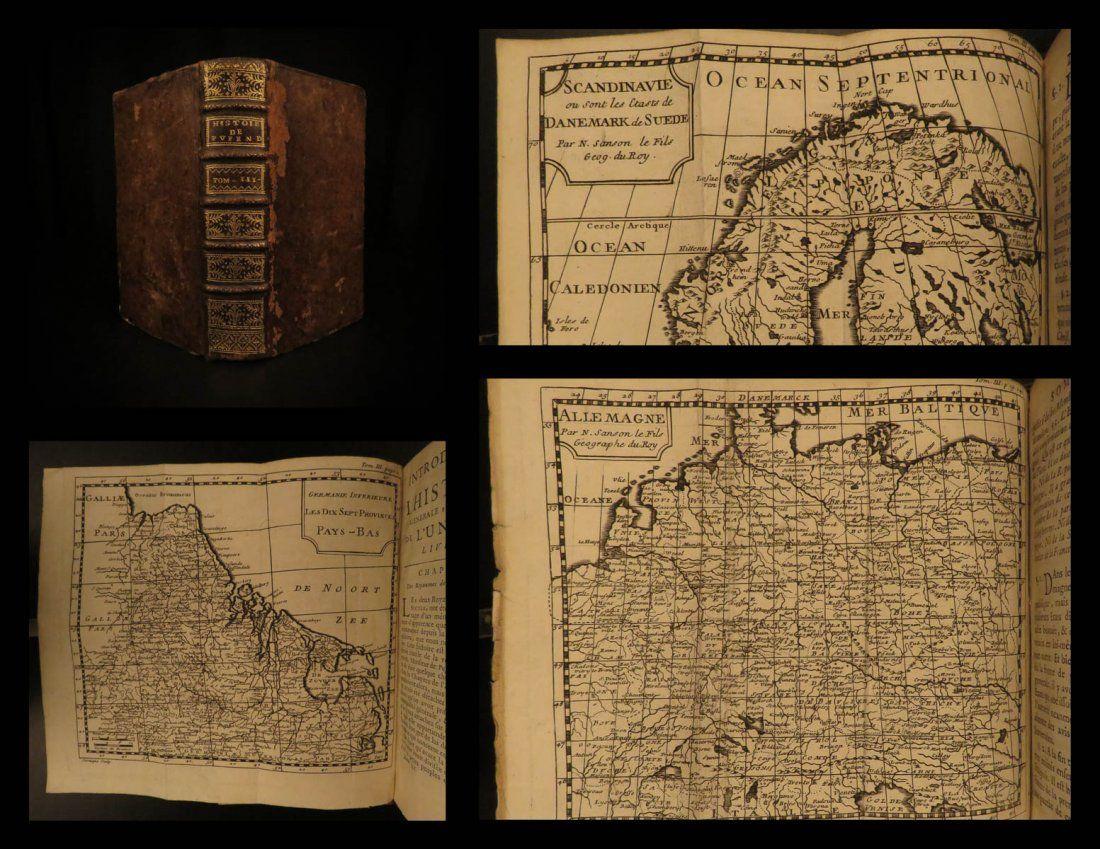 1722 Atlas MAPS Samuel Pufendorf History & Geography