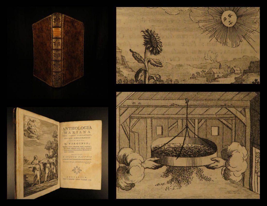 1775 1ed Virgin Mary Emblems Anthologia Mariana Pauwels