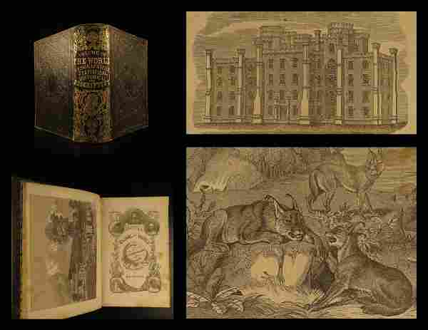 1853 Prescott World History Geography Illustrated