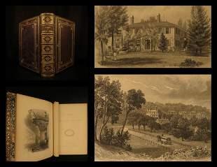 1854 EXQUISITE Homes of American Authors Audubon Irving