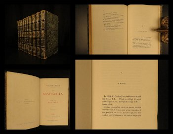 1862 EARLY Les Misérables Victor HUGO French Classic