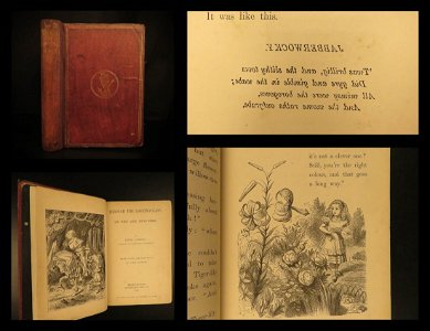 1872 1ed / 1st Through the Looking Glass Alice