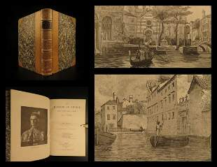 1887 Makers of VENICE Oliphant Italy Marco Polo Throne