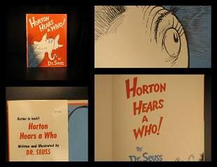 1954 EARLY Dr Seuss Horton Hears a Who! Children Illust