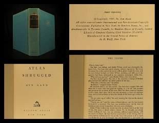 1957 TRUE 1st printing Atlas Shrugged Ayn Rand