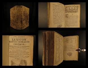 1756 1ed Hebrew Lexicon Chaldean BIBLE Old Testament