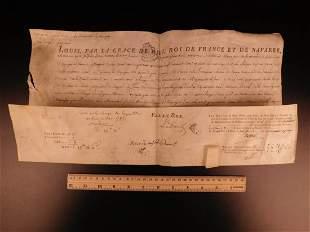 1782 King Louis XVI of France Vellum