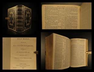 1852 Holy Bible Beautiful BINDING American Bible