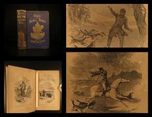 1853 INDIANS Daniel Boone Audubon Buffalo HUNTING Fox
