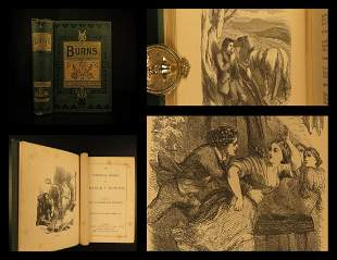 1865 Robert Burns Scottish Poems Scotland Illustrated