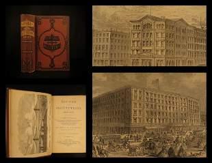 1872 NEW YORK 1st ed Institutions Americana Asylum