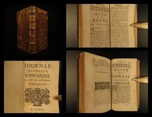 1697 Anne La Roche-Guilhem Spanish RARE Literature