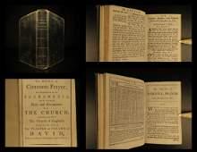 1781 Bible Book of Common Prayer Church of England