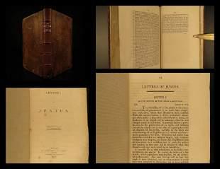 1796 Letters of JUNIUS Newspaper Constitution Laws