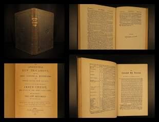 1820 BIBLE Apocrypha Apocryphal New Testament Christian