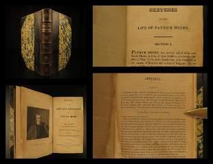 1818 Life of Patrick Henry Colonial Americana Politics
