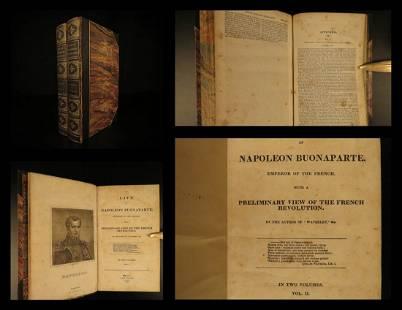 1836 Life of Napoleon Bonaparte by Walter Scott French