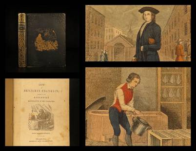 1846 1st Life of Ben Franklin Electricity America Laws