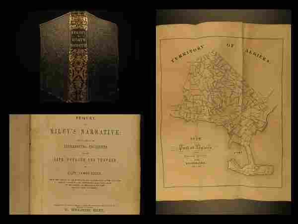 1851 1ed Sequel to James Riley Narrative Commerce Ship
