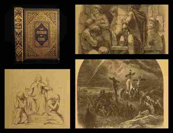 1857 1ed The Course of Time Scottish Robert Pollok Poet