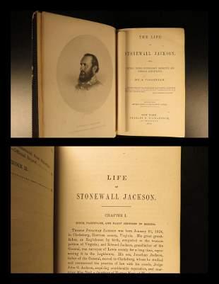 1864 1st ed Stonewall Jackson American CIVIL WAR