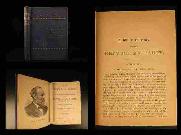 1880 1st ed Republican Manual Government Politics