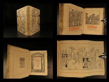 1887 Golden Legend of the CROSS Medieval Woodcut