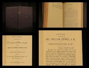 1889 Mormon Letters Orson Spencer Doctrine Latter-Day