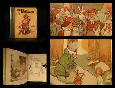 1911 Alice in Wonderland Lewis Carroll Fantasy Atwell