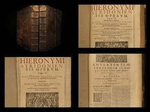 1616 FOLIO Saint Jerome BIBLE & Commentary Cologne