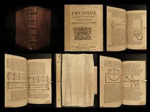 1696 Physics by Rohault Isaac NEWTON Optics Philosophy