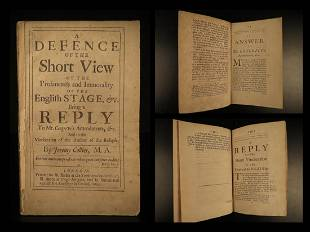 1699 English Theater Jeremey Collier Short View Puritan