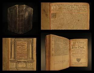 1715 RARE King James English Holy BIBLE James Watson