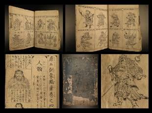 1719 Japanese Tachibana China Demon Monster Warrior