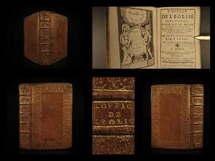 1722 EXQUISITE Catholic Book of Hours Prayers Hymns