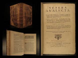 1723 HUGE FOLIO Vetera Analecta Jean Mabillon