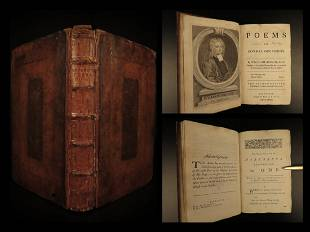 1739 William Broome Poems on Several Occasions English