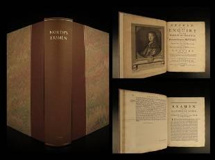 1740 1ed Roger North Examen Charles II Popish Plot