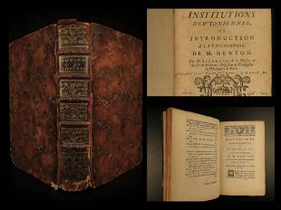 1747 1ed Institutions of Isaac NEWTON Astronomy Physics