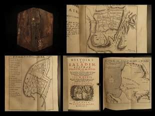 1758 History of Saladin Egypt Sultan Crusades MAPS