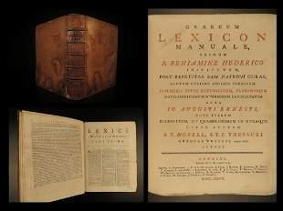 1778 Greek & Latin Dictionary Graecum Lexicon Language